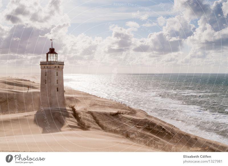 Sandsturm am Leuchtturm Mensch Natur Ferien & Urlaub & Reisen Sonne Meer Einsamkeit Landschaft Wolken Küste Tourismus Wüste Wahrzeichen Nordsee Sturm
