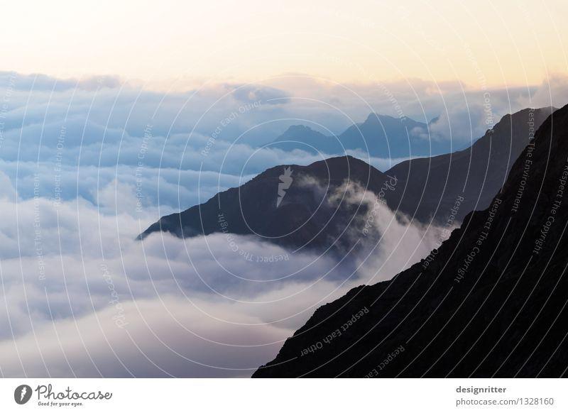Zuckerwatte Himmel Ferien & Urlaub & Reisen Sommer Erholung Einsamkeit Wolken ruhig Ferne Berge u. Gebirge Freiheit Felsen Horizont Wetter Zufriedenheit