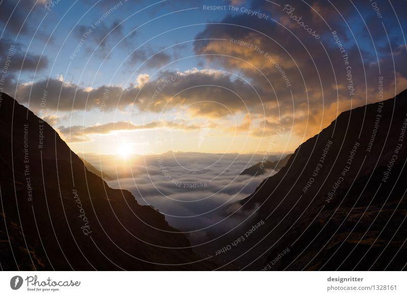 Gutes Erwachen Himmel Ferien & Urlaub & Reisen Sommer Wolken ruhig Ferne dunkel Berge u. Gebirge außergewöhnlich Freiheit Felsen Zufriedenheit frei wandern
