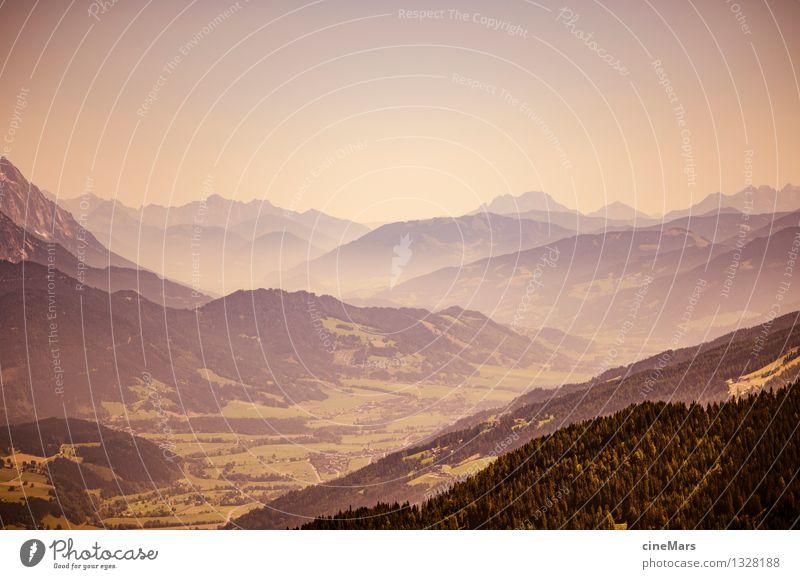 Berglandschaft am Dachstein Landschaft Wolkenloser Himmel Sommer Hügel Felsen Alpen Berge u. Gebirge entdecken gehen laufen Ferne Unendlichkeit natürlich grün