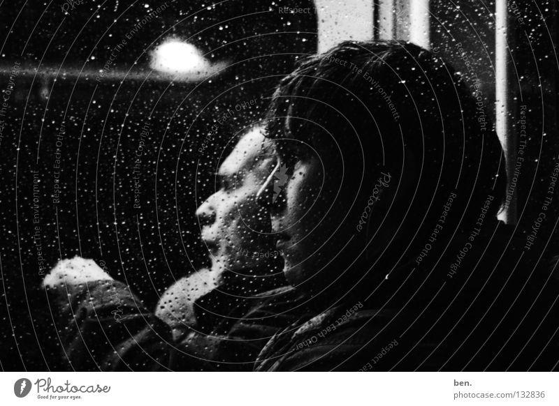 Break weiß schwarz Gefühle Fenster Bus Fensterscheibe