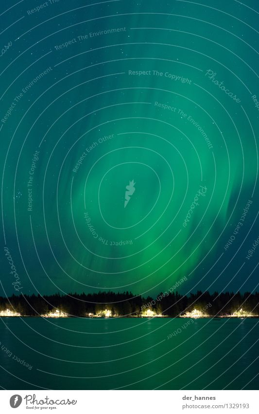 aurora.110 Himmel Natur blau grün schön Landschaft dunkel Wald Umwelt außergewöhnlich See träumen elegant fantastisch Stern Unendlichkeit