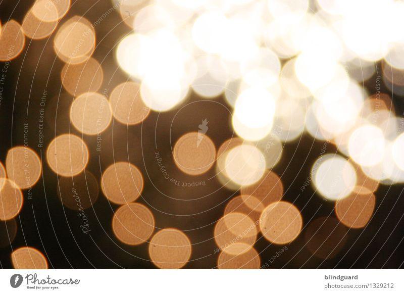 Glitter Nachtleben Party Feste & Feiern Weihnachten & Advent Silvester u. Neujahr leuchten dunkel hell braun gold schwarz weiß Gefühle Stimmung Freude