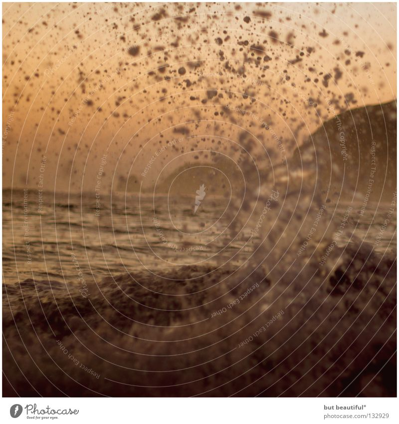 costa da morta II° Meer rot Brandung Spanien Rauschen Gischt Küste Strand Tod Wasser