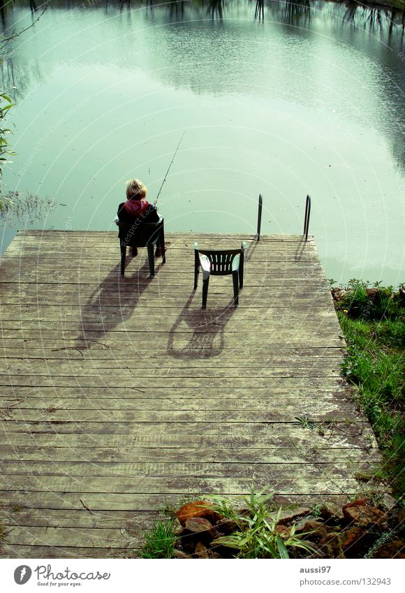 Vorgestern am See Ferien & Urlaub & Reisen Wasser Erholung Stimmung Freizeit & Hobby Fisch Bad Vertrauen fangen Sitzgelegenheit Angeln Kühlung