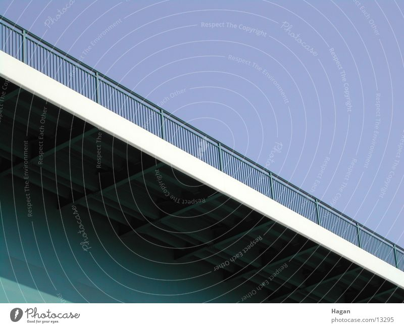 Autobahn Ingenieur Brücke Autobahnbrücke Geländer Architektur