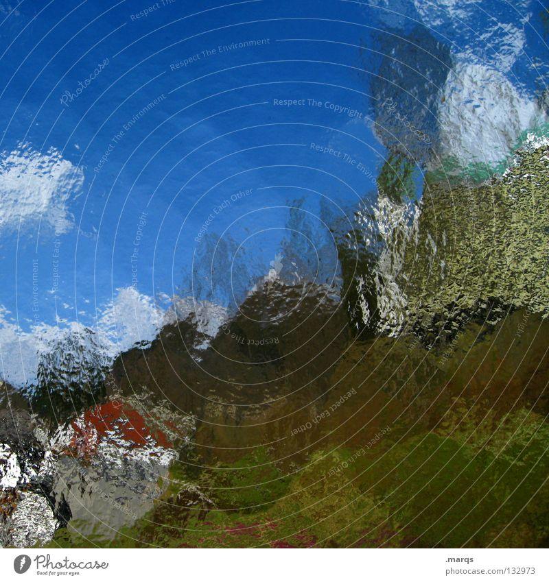 Estival weiß grün blau Sommer Farbe träumen Landschaft braun Kunst Glas Hintergrundbild streichen obskur Gemälde gebrochen Erdöl