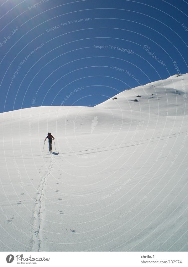 I´m walking... Skitour Freizeit & Hobby Skifahren Berghang Mann Bergsteigen wandern ruhig Sport Spielen Berge u. Gebirge Alpen Tuxer Alpen Schnee touren gehen