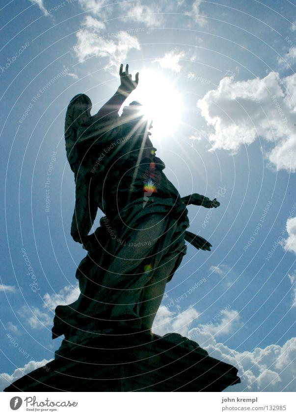 Rock 'n' Roll Himmel blau Sonne Wolken Italien Denkmal Statue Wahrzeichen heilig Rom Himmelskörper & Weltall Rocker