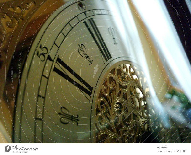 antike Uhr Zifferblatt Zeit Reflexion & Spiegelung Häusliches Leben