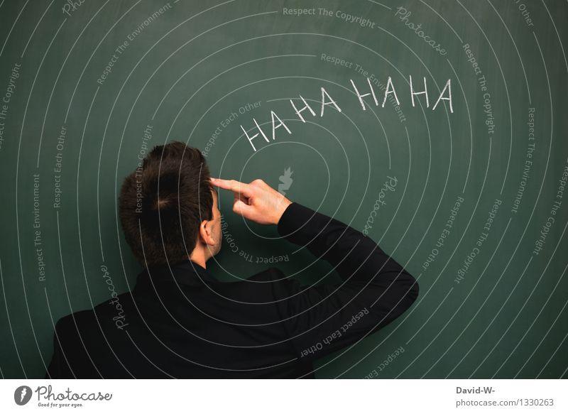 bei dir piept's wohl Mensch Jugendliche Mann Junger Mann Erwachsene Leben sprechen Lifestyle Schule Business maskulin elegant Finger Bildung Student Wut