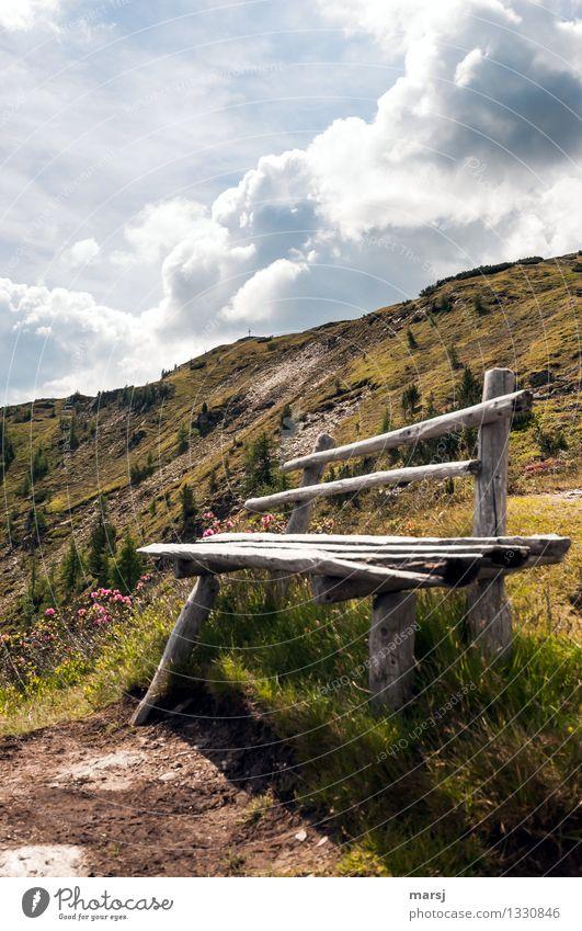 Muss denn immer alles perfekt sein? Himmel Ferien & Urlaub & Reisen Sommer Erholung ruhig Wolken Berge u. Gebirge Herbst Tourismus wandern Ausflug