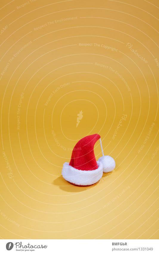 Erwartungen Weihnachten & Advent rot Freude gelb lustig klein Feste & Feiern Stimmung Dekoration & Verzierung gold Fröhlichkeit retro einfach Zeichen Kitsch Mütze
