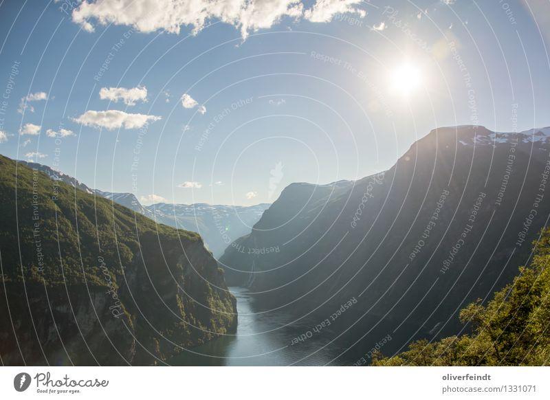 Norwegen III Himmel Natur Ferien & Urlaub & Reisen schön Sommer Sonne Meer Landschaft Wolken Ferne Wald Berge u. Gebirge Umwelt Freiheit Felsen Horizont