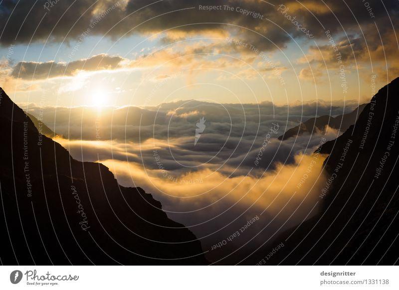 Wellenberge Himmel Natur Ferien & Urlaub & Reisen Sommer Einsamkeit Wolken Ferne Berge u. Gebirge Umwelt Freiheit Tourismus wandern Klima Abenteuer Gipfel Alpen