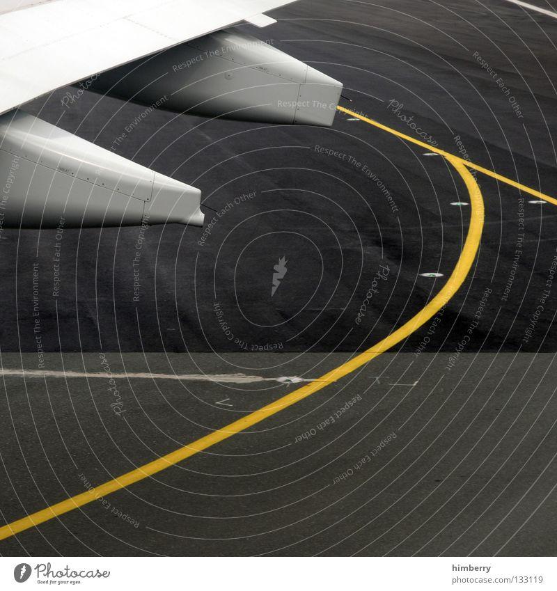 get up Flugzeug Luftverkehr Flugzeugstart Tragfläche Flughafen Abheben Tank Landebahn