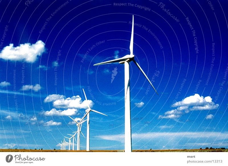 windcraft Himmel Wolken Ferne Horizont Windkraftanlage Erneuerbare Energie