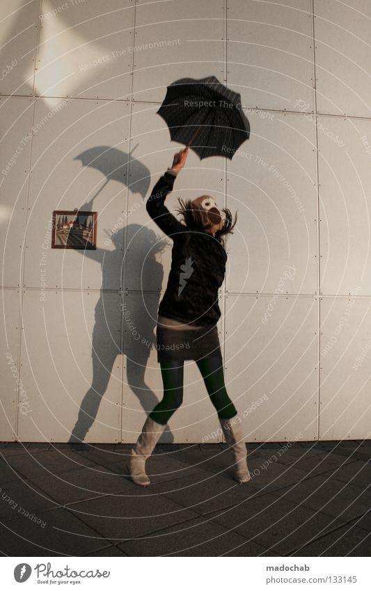 TANZ IN DEN MAI Mensch Frau Jugendliche Freude Einsamkeit feminin Wand Leben Bewegung Freiheit Glück springen Party lustig Mode träumen