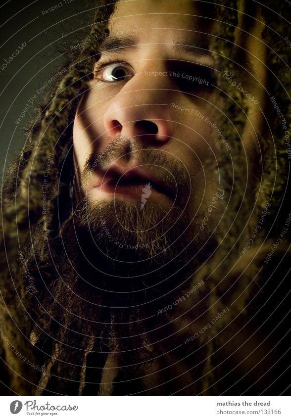 WUT Mensch Mann Gesicht Auge dunkel Gefühle Haare & Frisuren hell Kraft Angst Haut maskulin Kraft gefährlich bedrohlich Wut