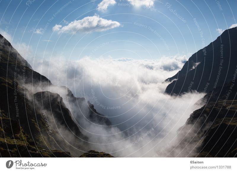 Wolkenbrandung Umwelt Natur Urelemente Wasser Himmel Sommer Klima Klimawandel Schönes Wetter Felsen Alpen Berge u. Gebirge außergewöhnlich gigantisch ästhetisch