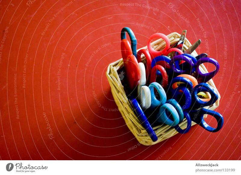 scissor sisters Tisch rot geschnitten Korb Basteln Freizeit & Hobby Handwerk Schere Schreibtisch papierschere bastelschere kinderschere