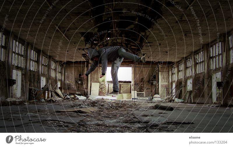 : : I C H   H E B   A B : : Karavane Mann verfallen Freude Mensch fly fliegen spingen alt verlassen müll dreckig Typ elson