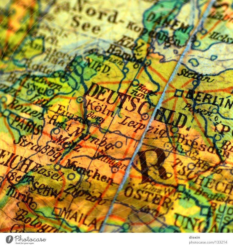 In 20 Tagen um die Welt; Tag20: wieder zuhause! Deutschland Europa Landkarte