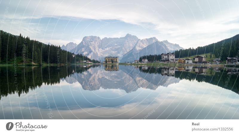 Misurinasee Himmel Natur Ferien & Urlaub & Reisen schön Sommer Landschaft ruhig Wolken Ferne Berge u. Gebirge Umwelt See Felsen Tourismus wandern Ausflug