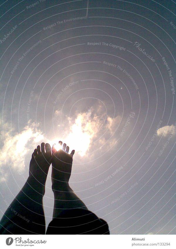 freiheit Himmel Freude Ferien & Urlaub & Reisen Wolken Freiheit Fuß Beine