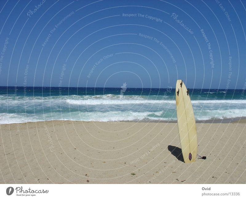 Surfboard_einsam Strand Surfen Surfbrett Europa Board Brettln