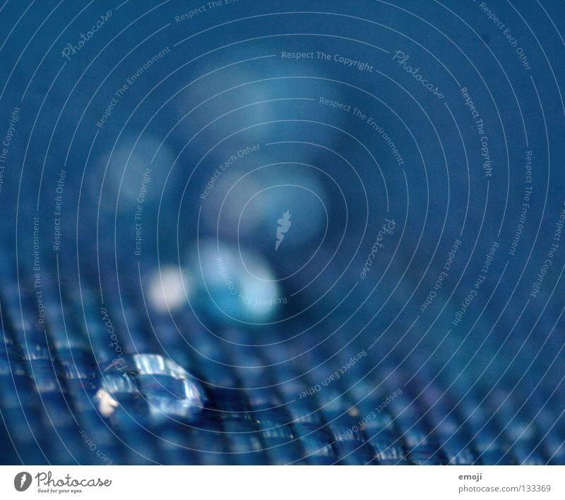 blue drops Bla Makroaufnahme Unschärfe Stoff Bruch gebrochen Flüssigkeit feucht nass Retroring Tiefenschärfe Dekoration & Verzierung Nahaufnahme Wassertropfen