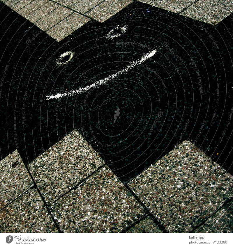 http://www.flickr.com/photos/streetart/173185972/ Gesicht Straße lachen Kopf Linie Graffiti Kunst einfach Punkt Mitte Bart obskur Bürgersteig Gemälde grinsen 6