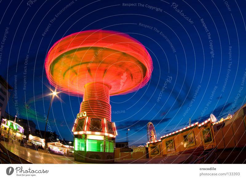 Brummkreisel II grün blau schön rot Freude gelb Kindheit fliegen Macht fantastisch Ladengeschäft Jahrmarkt Eingang Kette Schweben gigantisch