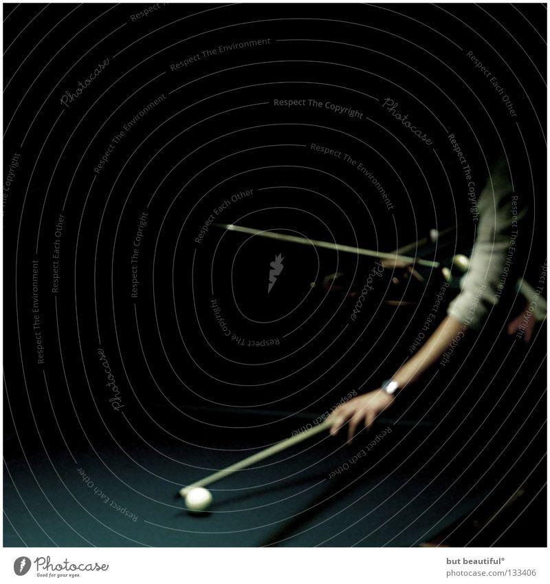 schattenmenschen° Hand dunkel Spielen geheimnisvoll Billard Snooker