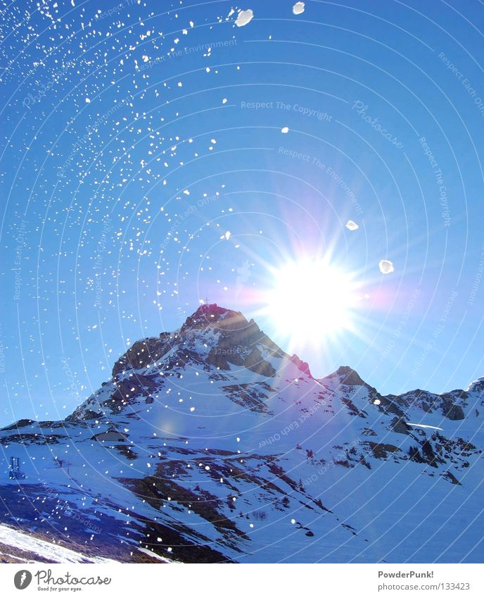 Kanzelwand Allgäu Winter kalt Februar 2008 Spielen Europa Schnee Sonne kanzelwand snow Berge u. Gebirge white schneebrocken