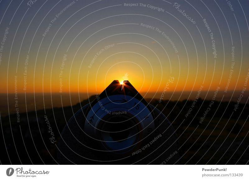 blick.zum.horizont Himmel schön Sommer Sonne Freude gelb Ferne Berge u. Gebirge Horizont Stimmung Ziel Aussicht Wolkenloser Himmel Bayern horizontal friedlich