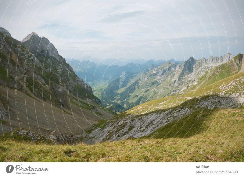 Postkartenwelt [5] Himmel Natur Sommer Erholung Landschaft Wolken Berge u. Gebirge Umwelt Wiese Gras natürlich Sport Freiheit Felsen Horizont Zufriedenheit