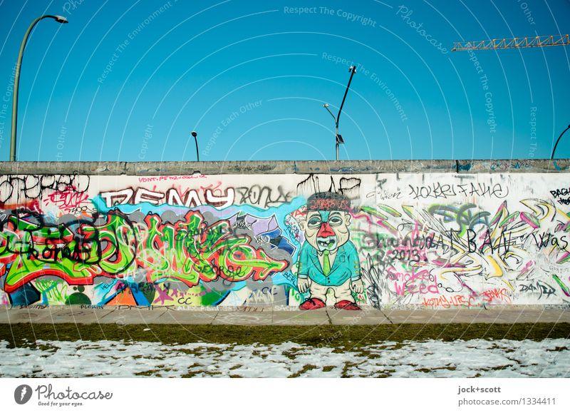 Frei-Mauer Winter kalt Umwelt Wand Schnee Stil Ordnung authentisch Kreativität Beton einzigartig Jugendkultur Macht Schutz Sicherheit