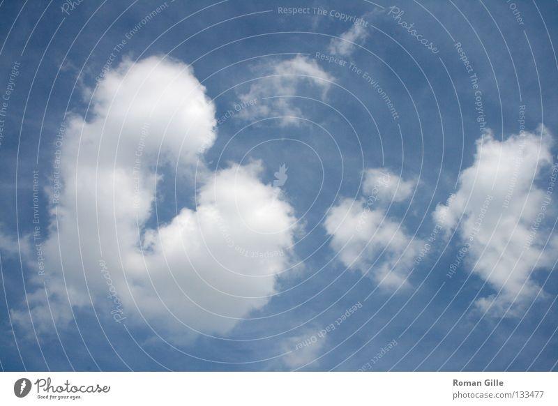 Herz Wolke Himmel blau weiß Sommer Wolken Freude Glück Valentinstag Farbe