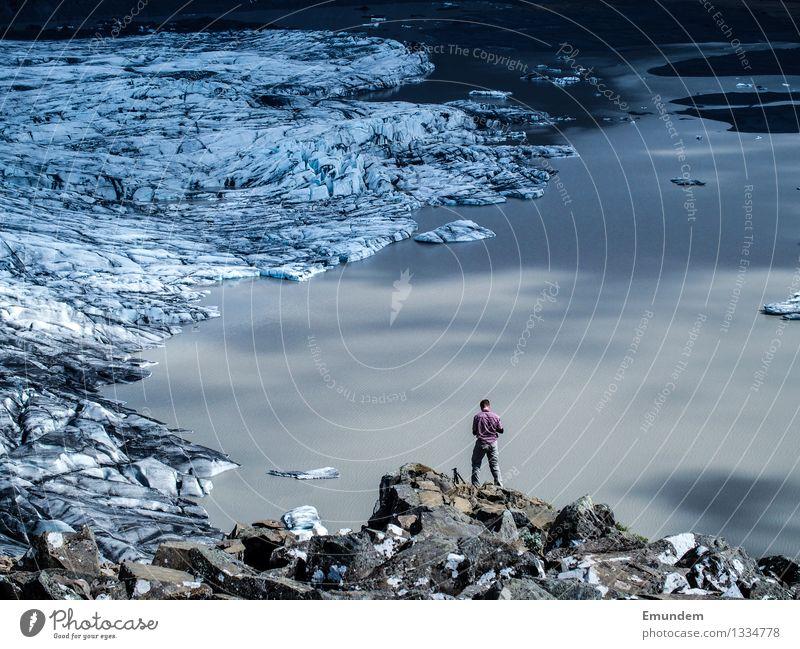 Über den Dingen Ferien & Urlaub & Reisen Tourismus Ferne Schnee wandern Umwelt Natur Klimawandel Schönes Wetter Gletscher Skaftafell Nationalpark Island