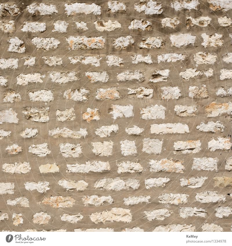 Zugemauert... Mauer Wand Fassade Stein Beton historisch natürlich Sicherheit stagnierend Zusammenhalt Fuge Hintergrundbild Strukturen & Formen Muster