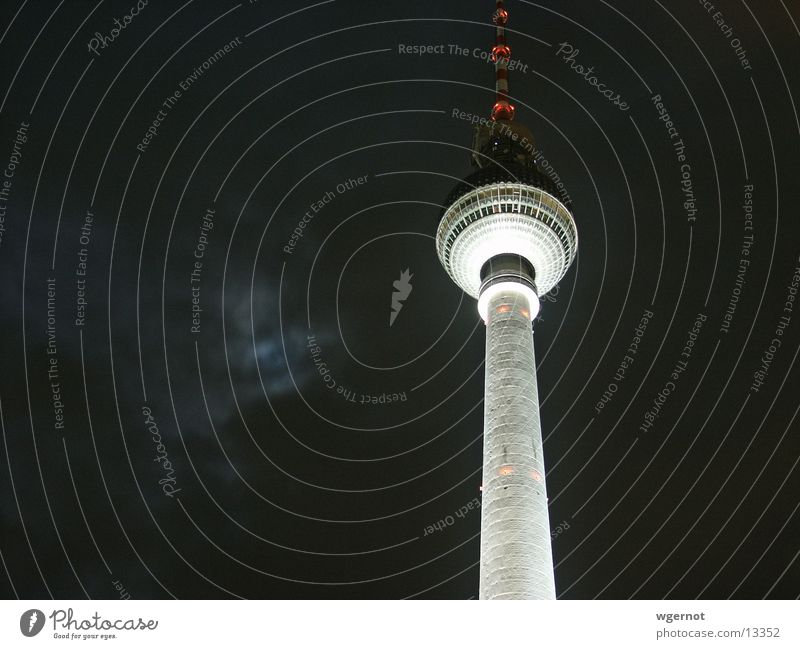 berlin bei nacht Berlin Architektur Berliner Fernsehturm