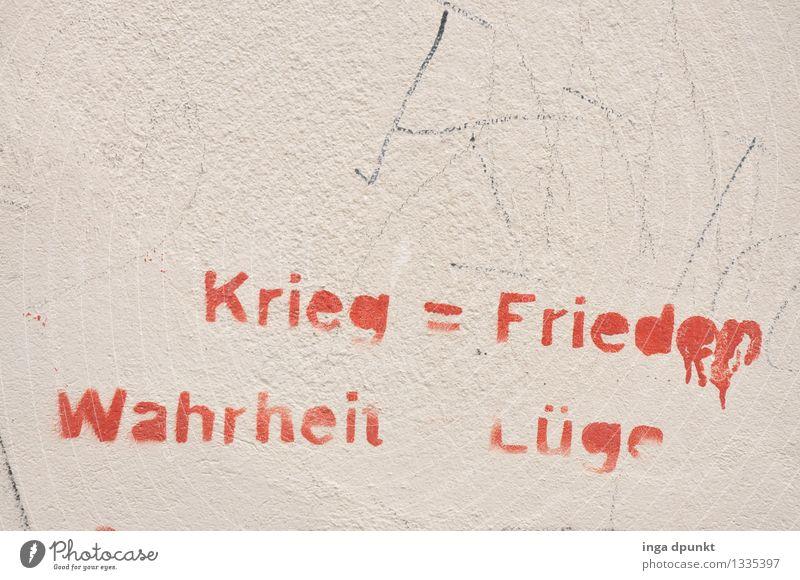 Nichts = Alles Kunst Kultur Jugendkultur Subkultur Redewendung Gleichung Mauer Wand Fassade Graffiti Straßenkunst Dekoration & Verzierung Stein Zeichen