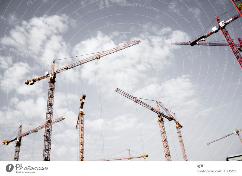 Horizonterweiterung Baustelle Kran Kranfahrer Geometrie Unendlichkeit immer Vergänglichkeit Nachbildung Erneuerung beenden Kredit einrichten Erfinden errichten