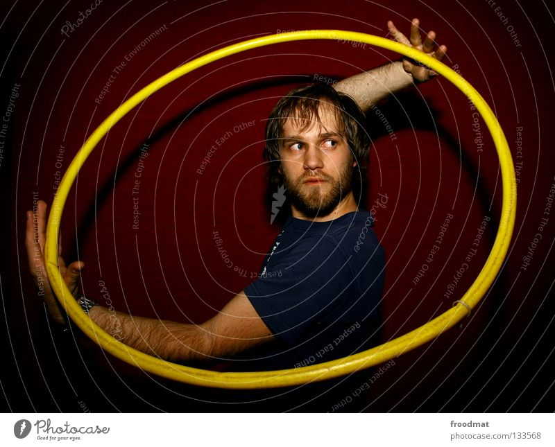 Yin Yang blau rot Freude Gesicht gelb Bewegung lustig Spielen Kopf Energiewirtschaft Aktion blond Arme Kreis Ecke süß
