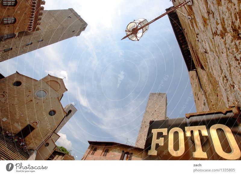 erledigt San Gimignano Italien Toskana Dorf Kleinstadt Stadtzentrum Altstadt Haus Hochhaus Kirche Dom Palast Platz Turm Bauwerk Gebäude Architektur