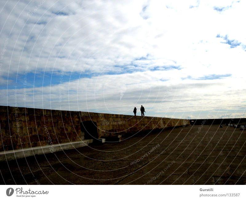 Himmelsrand Mensch Himmel Wolken Mauer Horizont Spaziergang Republik Irland
