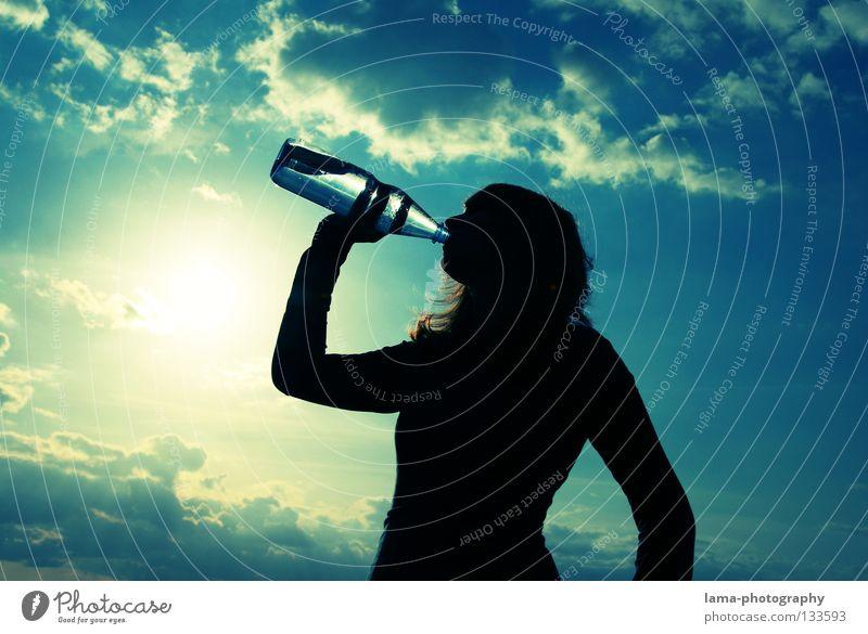 Refreshment Wasser Himmel Sonne Sommer Wolken Wärme Getränk trinken Physik rein Klarheit heiß Flasche Erfrischung Durst Verpackung
