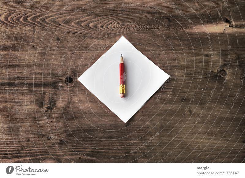 Roter Stift weiß rot Holz Schule braun Business Arbeit & Erwerbstätigkeit Büro Erfolg lernen Papier Bildung schreiben Erwachsenenbildung Wissenschaften Karriere
