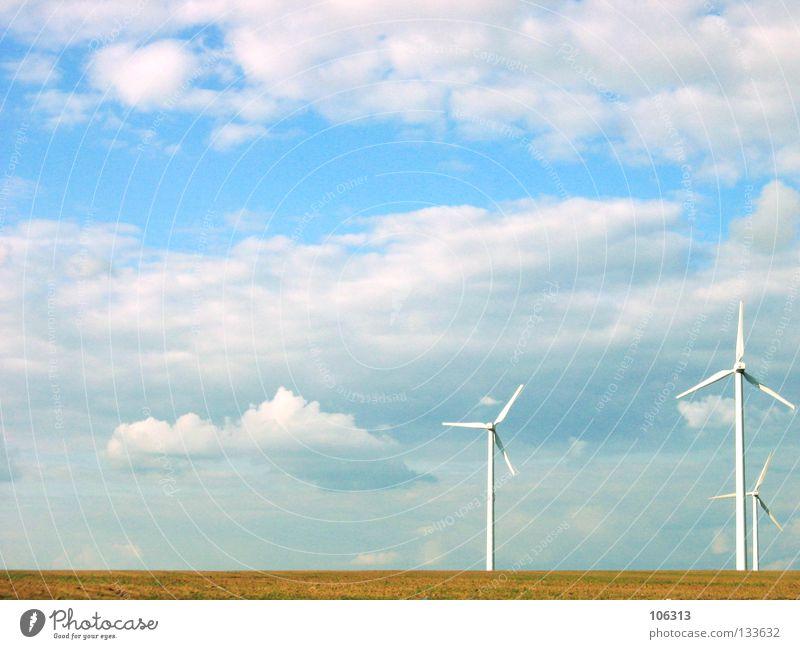 AMAZING THINGS Natur grün Wolken Umwelt Feld Wind Energiewirtschaft Elektrizität Technik & Technologie Sauberkeit Windkraftanlage drehen ökologisch Umweltschutz